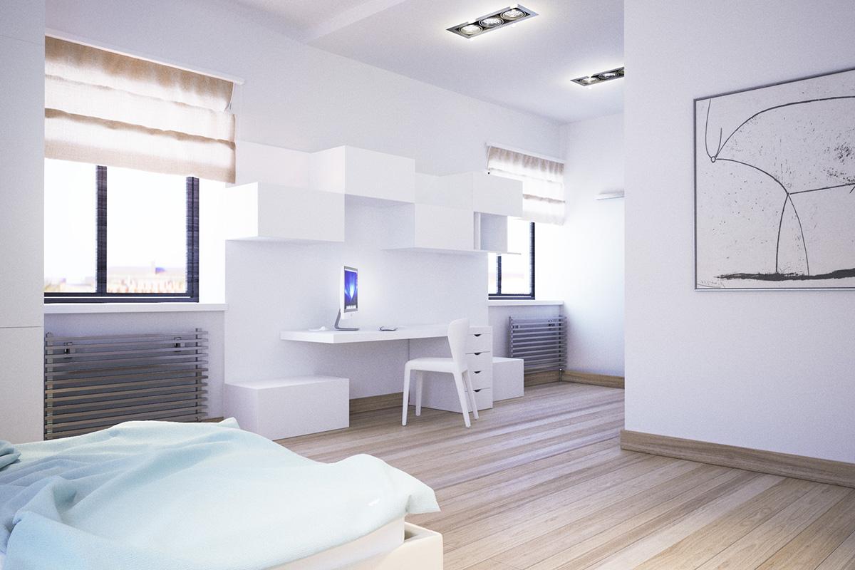 016 Дизайн интерьера двухуровневой квартиры