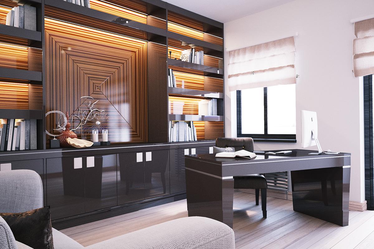 018 Дизайн интерьера двухуровневой квартиры
