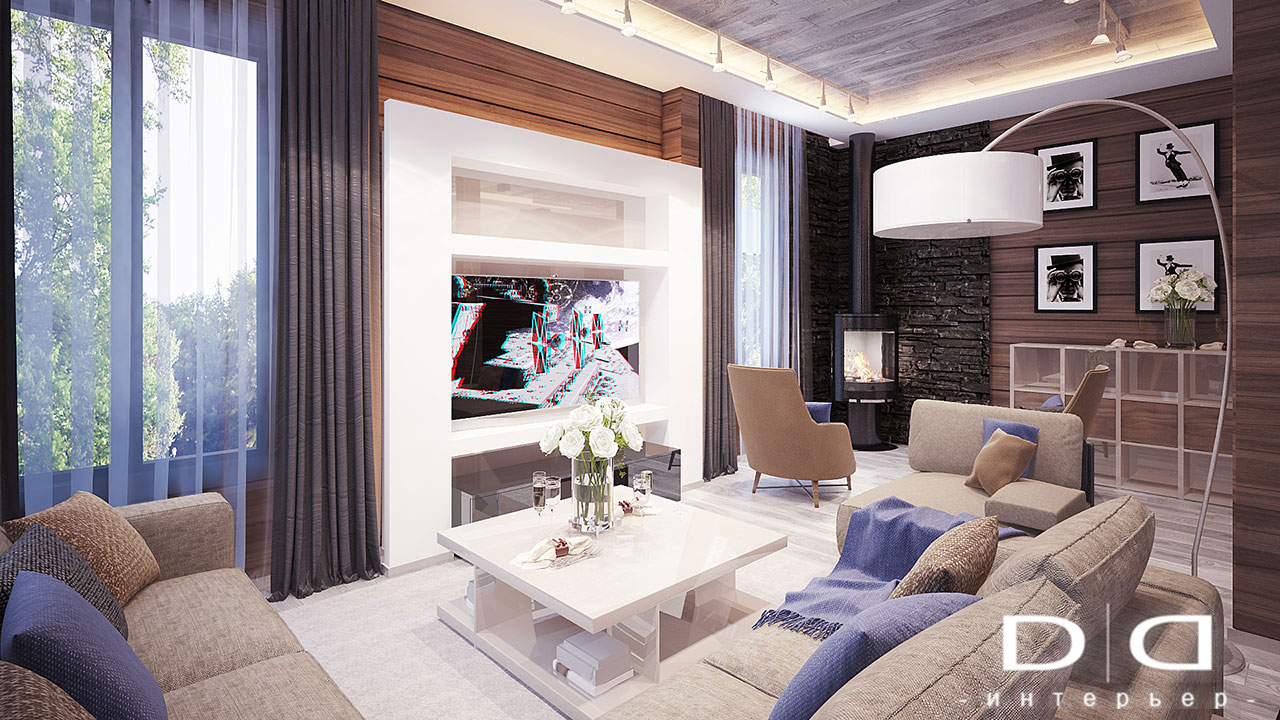 Дизайн интерьера дома, деревянного дома из бруса Минск dd-interior.by 001Tгост-005