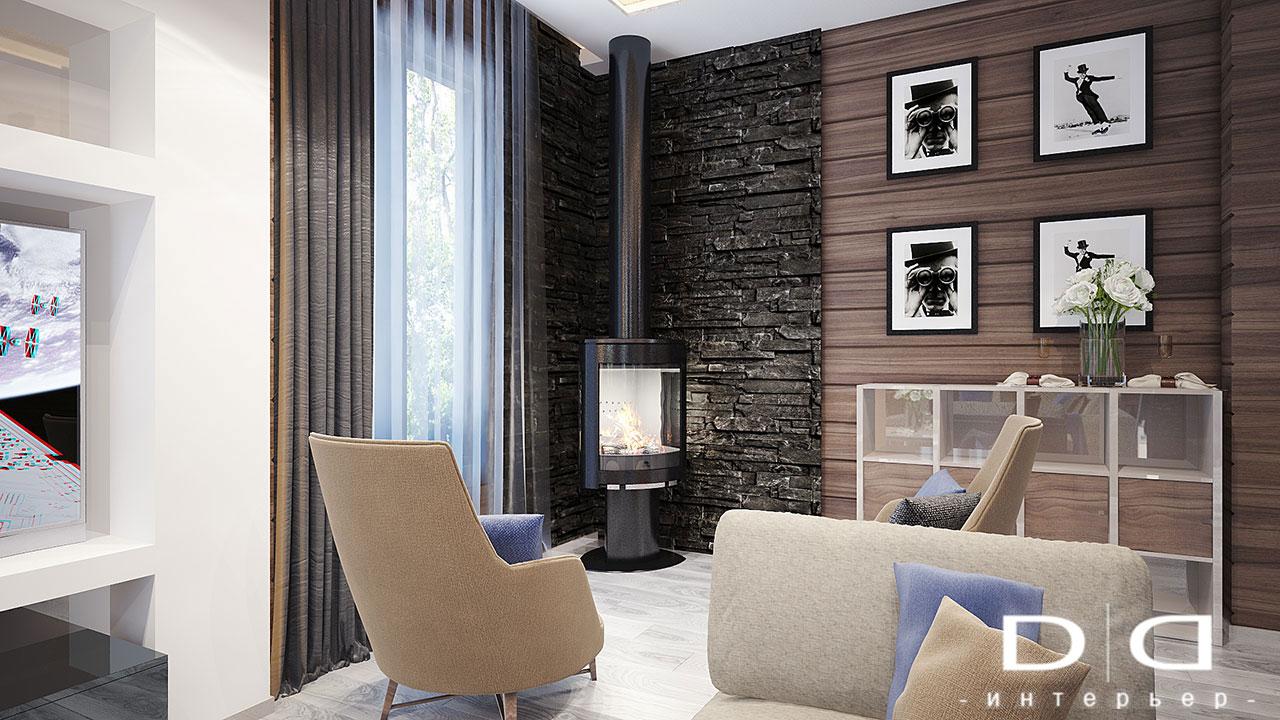 Дизайн интерьера дома, деревянного дома из бруса Минск dd-interior.by 001Tгост-1