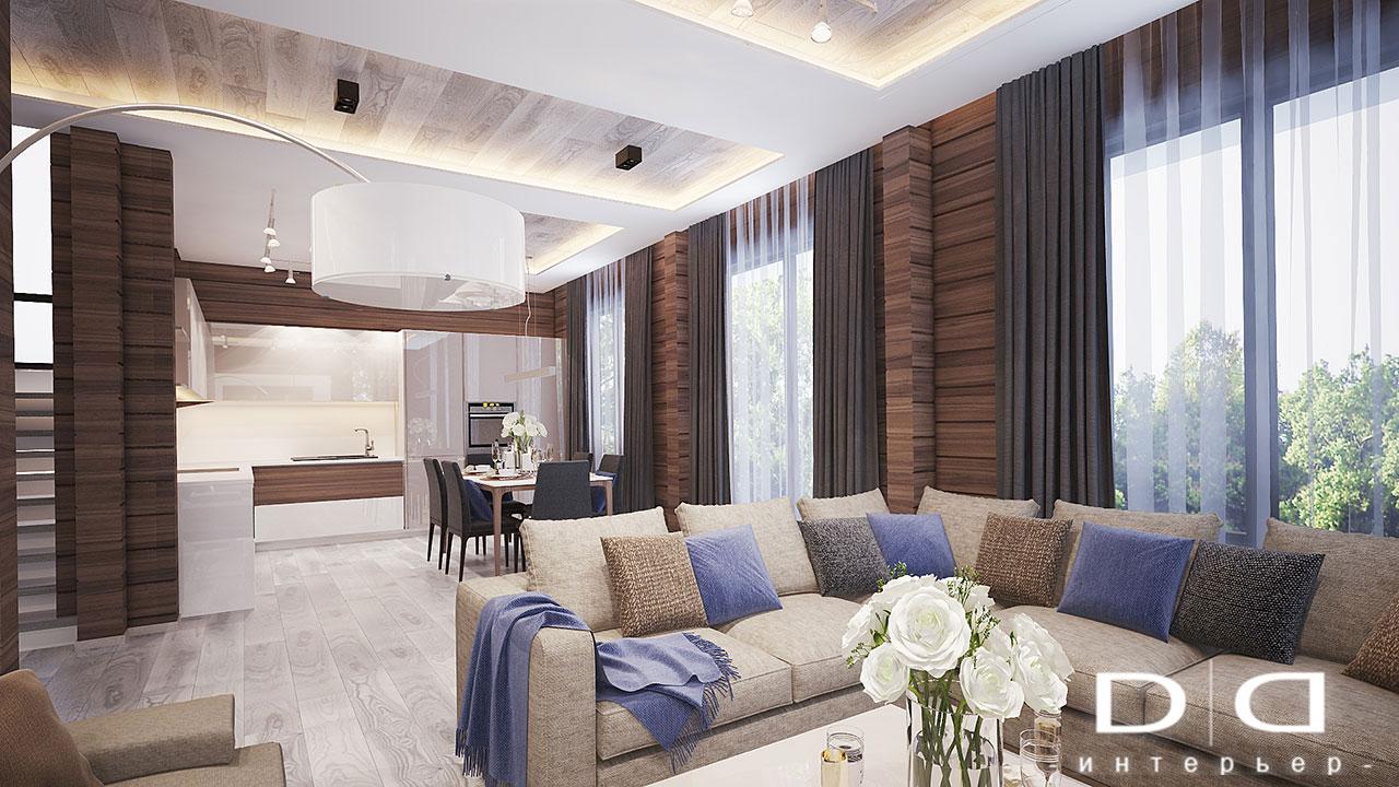 Дизайн интерьера дома, деревянного дома из бруса Минск dd-interior.by 001Tгост-3