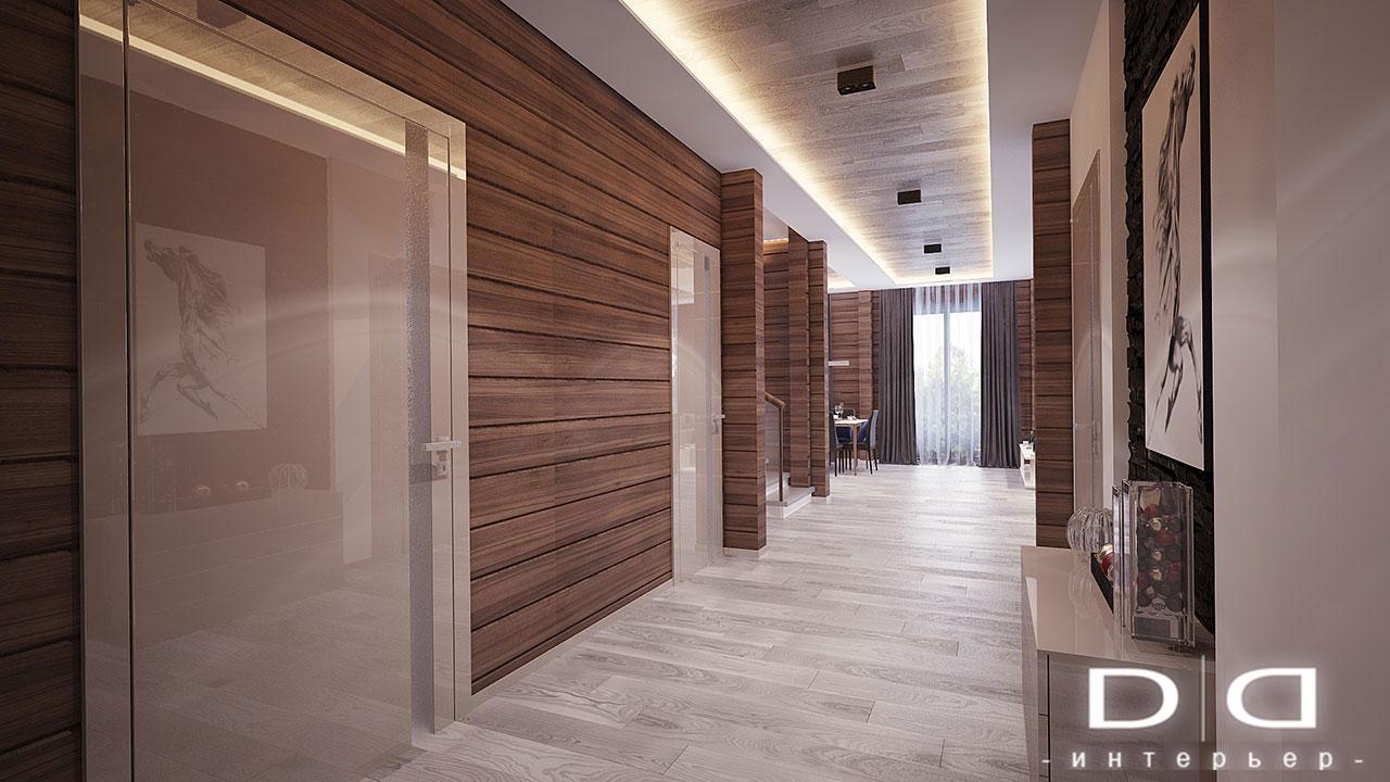 Дизайн интерьера дома, деревянного дома из бруса Минск dd-interior.by 001Tкоридор-004