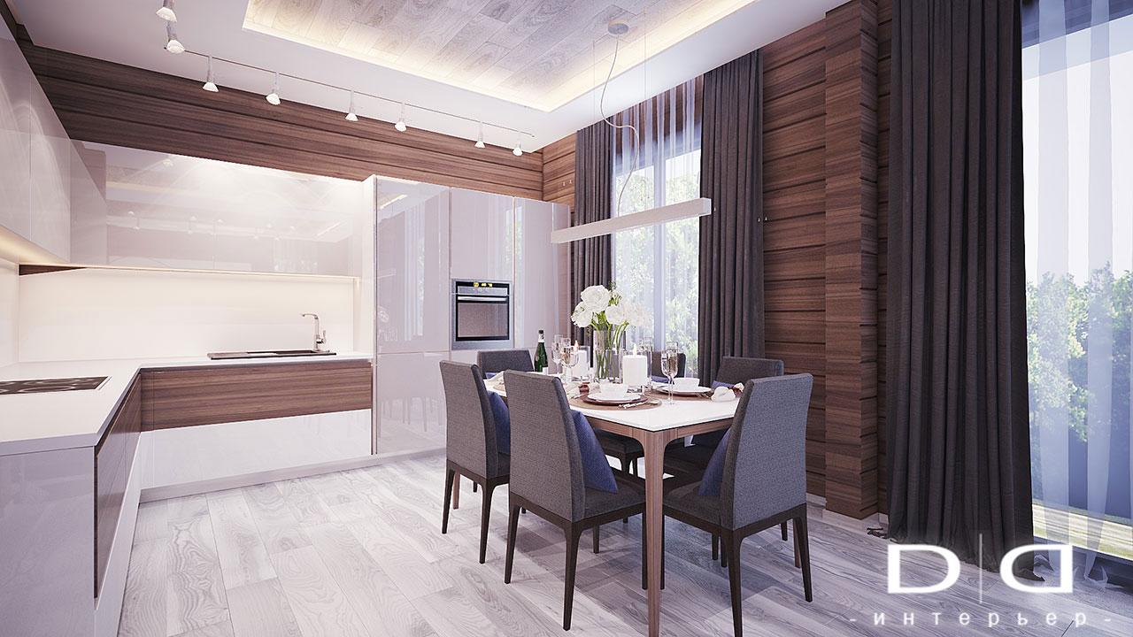 Дизайн интерьера дома, деревянного дома из бруса Минск dd-interior.by 001Tкухня-2