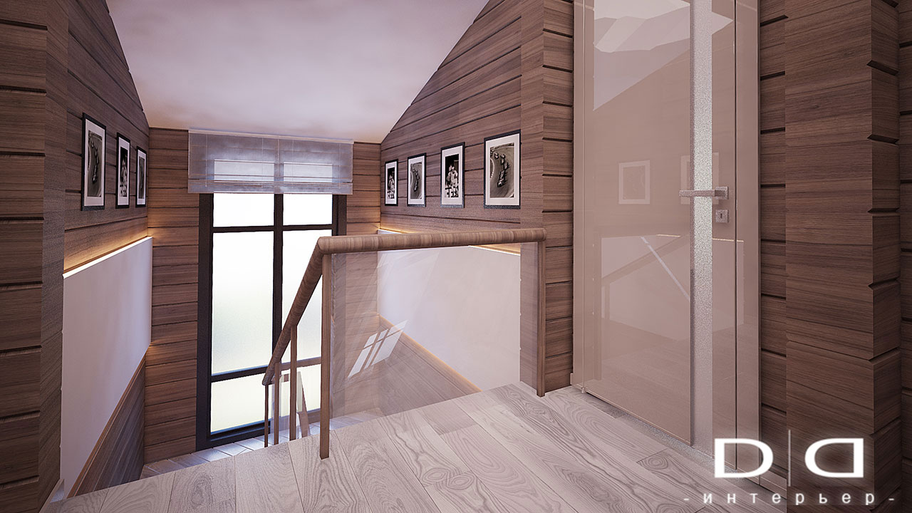 Дизайн интерьера дома, деревянного дома из бруса Минск dd-interior.by 001Tлестница-002