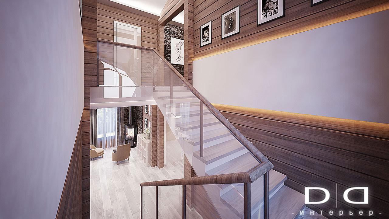 Дизайн интерьера дома, деревянного дома из бруса Минск dd-interior.by 001Tлестница-004