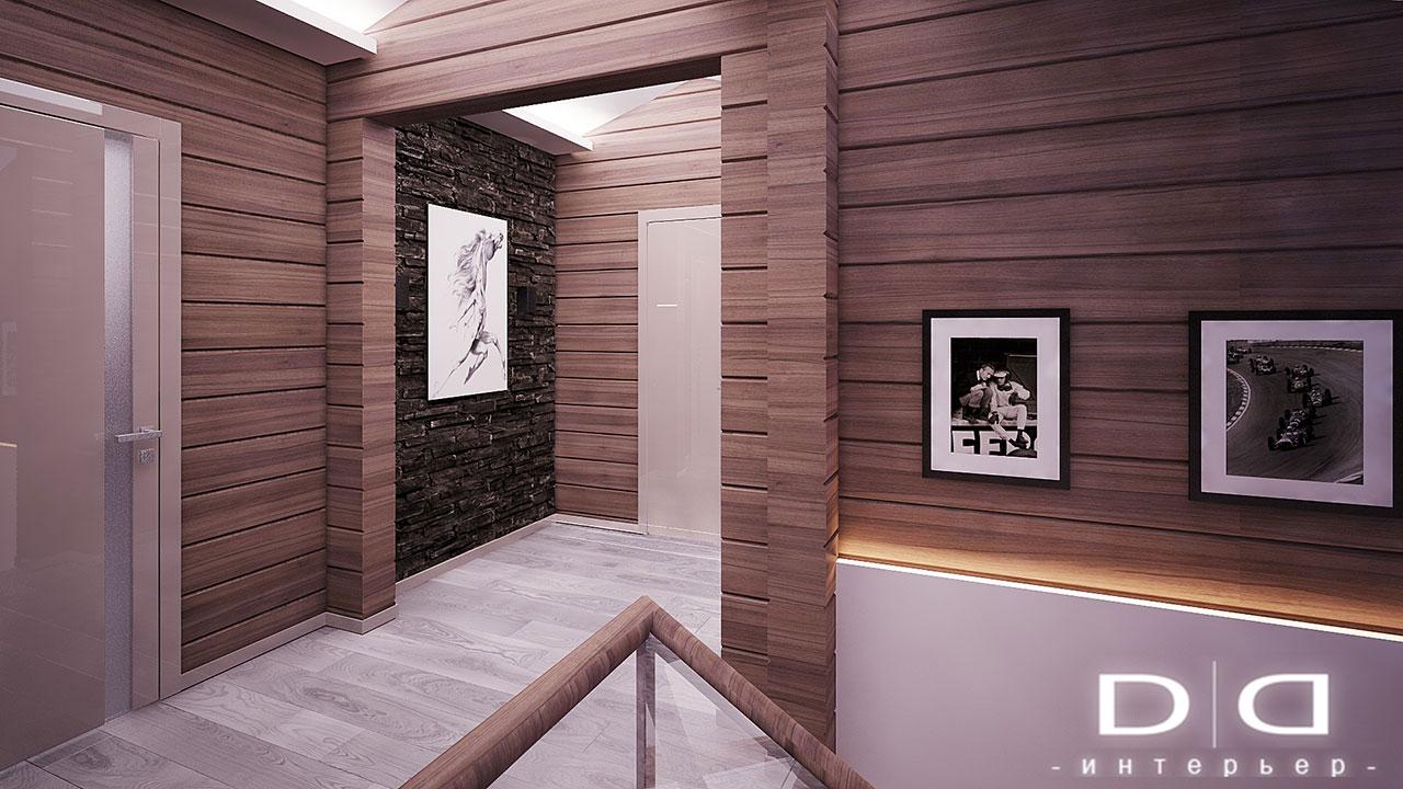 Дизайн интерьера дома, деревянного дома из бруса Минск dd-interior.by 001Tлестница-006