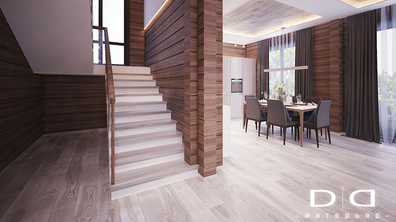 Дизайн интерьера дома, деревянного дома из бруса Минск dd-interior.by 001Tлестница-01