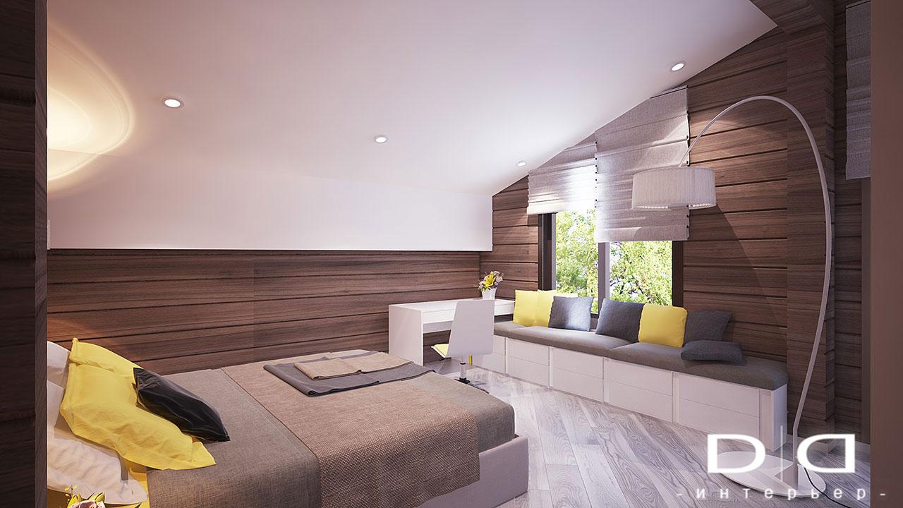 Дизайн интерьера дома, деревянного дома из бруса Минск dd-interior.by tдетская1-002