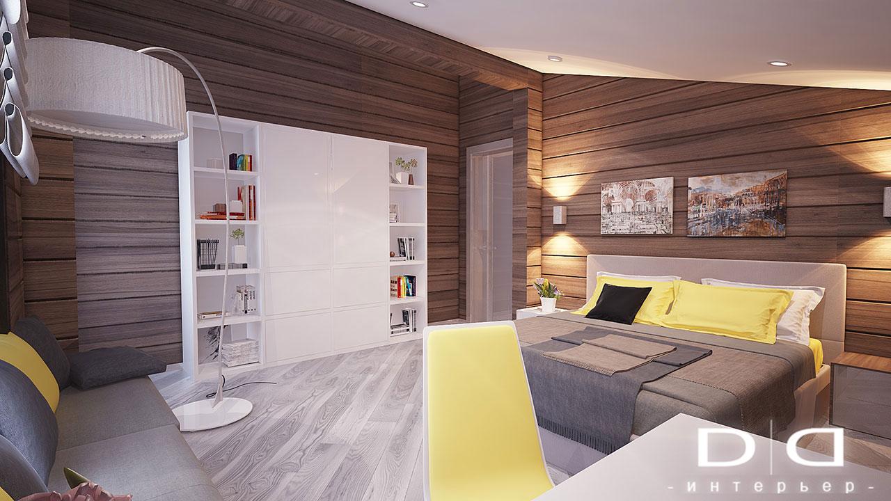 Дизайн интерьера дома, деревянного дома из бруса Минск dd-interior.by tдетская1-004
