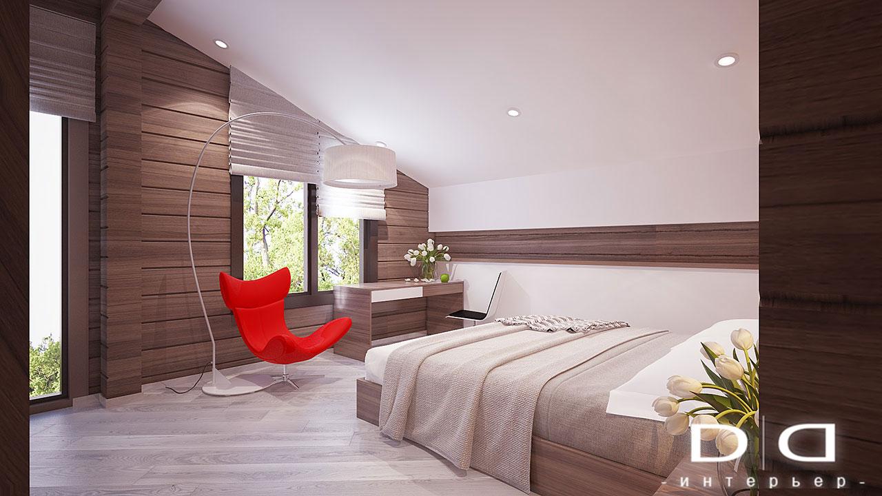 Дизайн интерьера дома, деревянного дома из бруса Минск dd-interior.by tдетская1-008