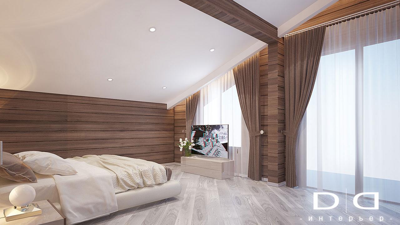 Дизайн интерьера дома, деревянного дома из бруса Минск dd-interior.by tспальня-003